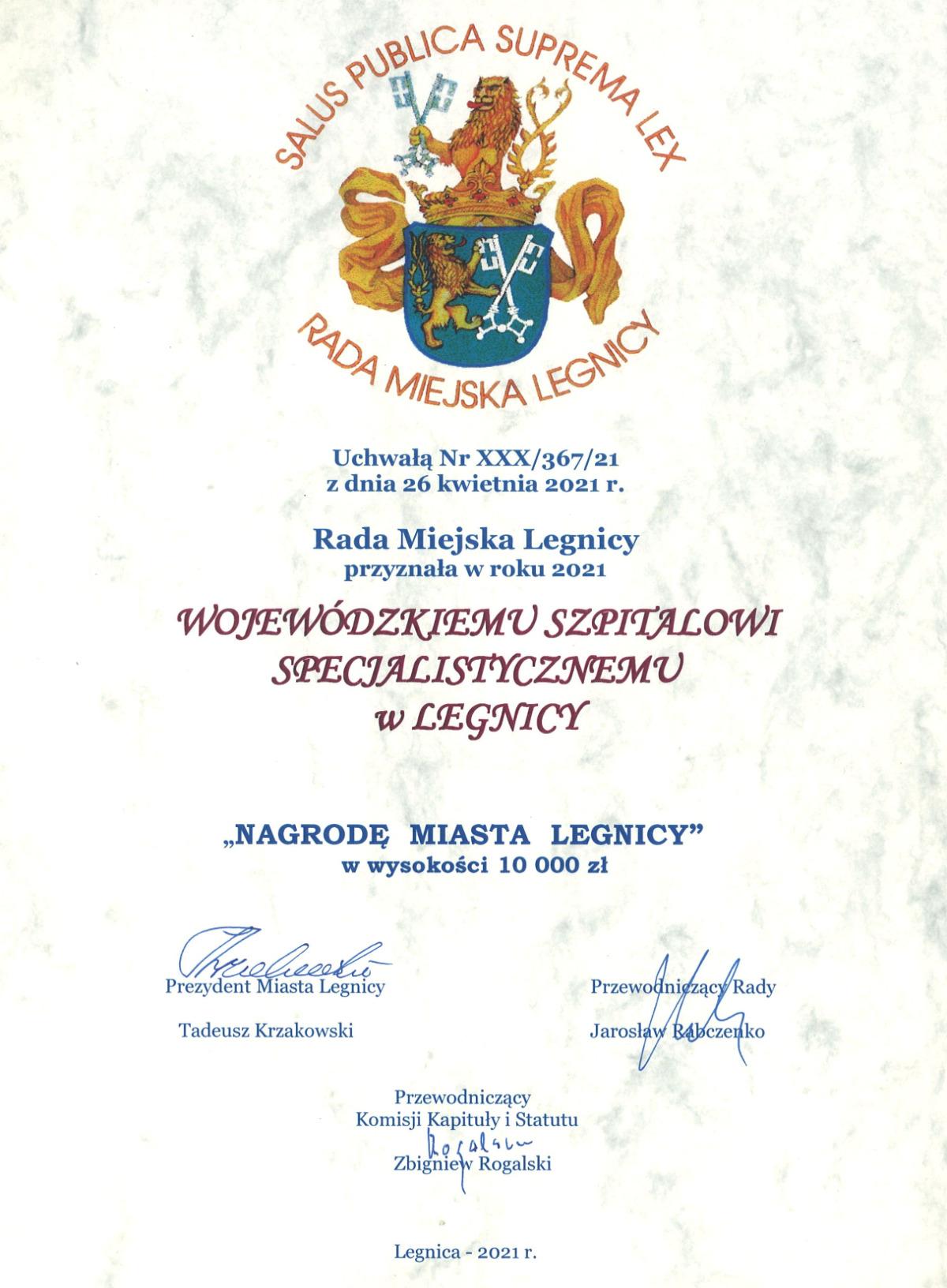 Nagroda Miasta Legnicy